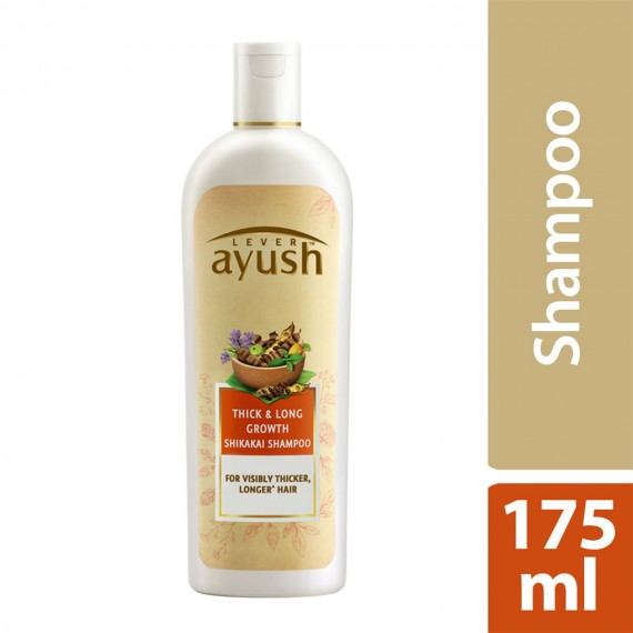 Lever Ayush Shampoo Long & Strong Growth Shikakai -0